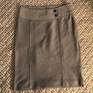 Banana Republic | Navy Striped Pencil Skirt | 2